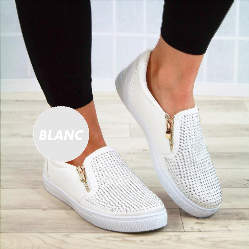 Ohlalavie™ Mocassins Plats à Enfiler en Cuir PU