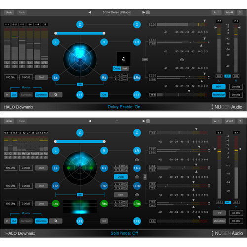 NUGEN Audio Halo Downmix Surround to Stereo Downmixer Plug-In with 3D Immersive Extension