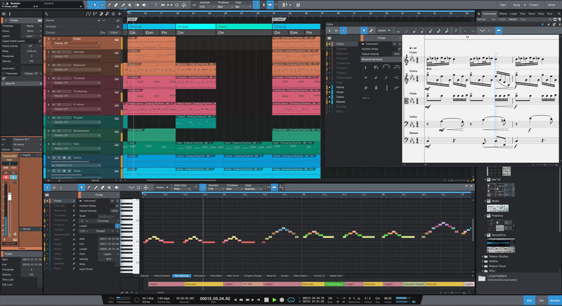 PreSonus Studio One 5 Professional Edit Window