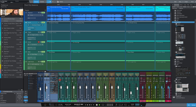 PreSonus Studio One 5 Professional  Mix Window