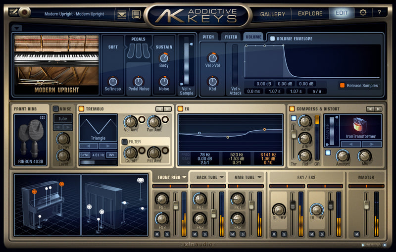 XLN Audio Addictive Keys Modern Upright