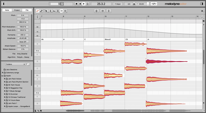 Melodyne 5 Editor update from Editor