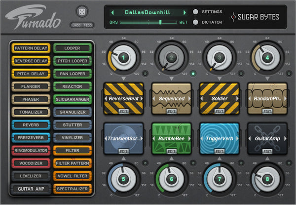 Turnado is a revolutionary multi-effect tool, crafted especially for massive real-time audio manipulation.