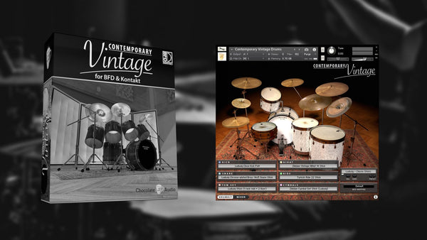 Chocolate Audio Contemporary Vintage Drums (BFD & Kontakt)