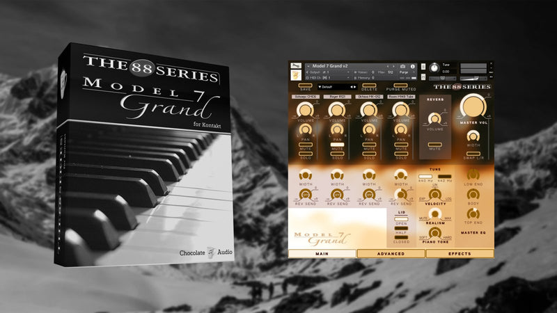 Chocolate Audio Model 7 Grand Piano For Kontakt