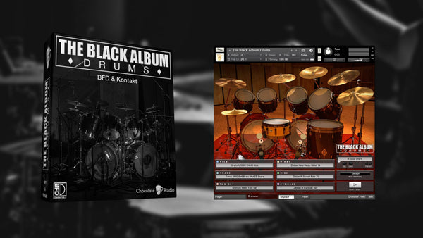 Chocolate Audio The Black Album Drums (BFD3 & Kontakt)