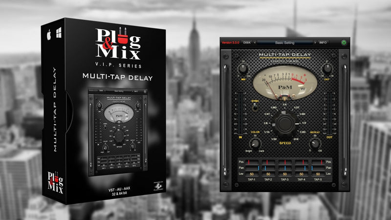 Plug And Mix Multi-Tap Delay