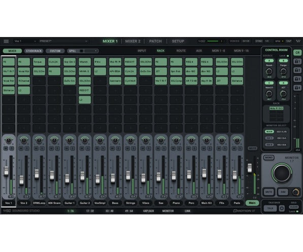 Waves SoundGrid Studio + eMotion ST 64-Channel Mixer