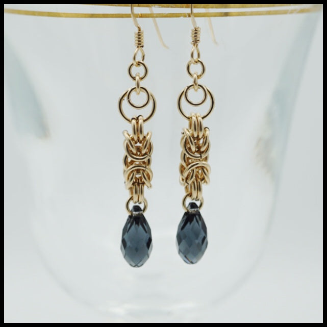 Byzantine Drop Earrings - Long