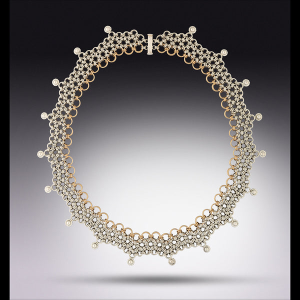 Classic Scalloped Japanese Weave Necklace