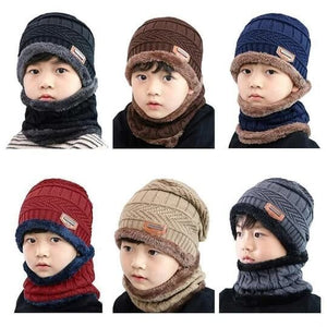 ABIV™ Warm Beanie Cap With Scarf