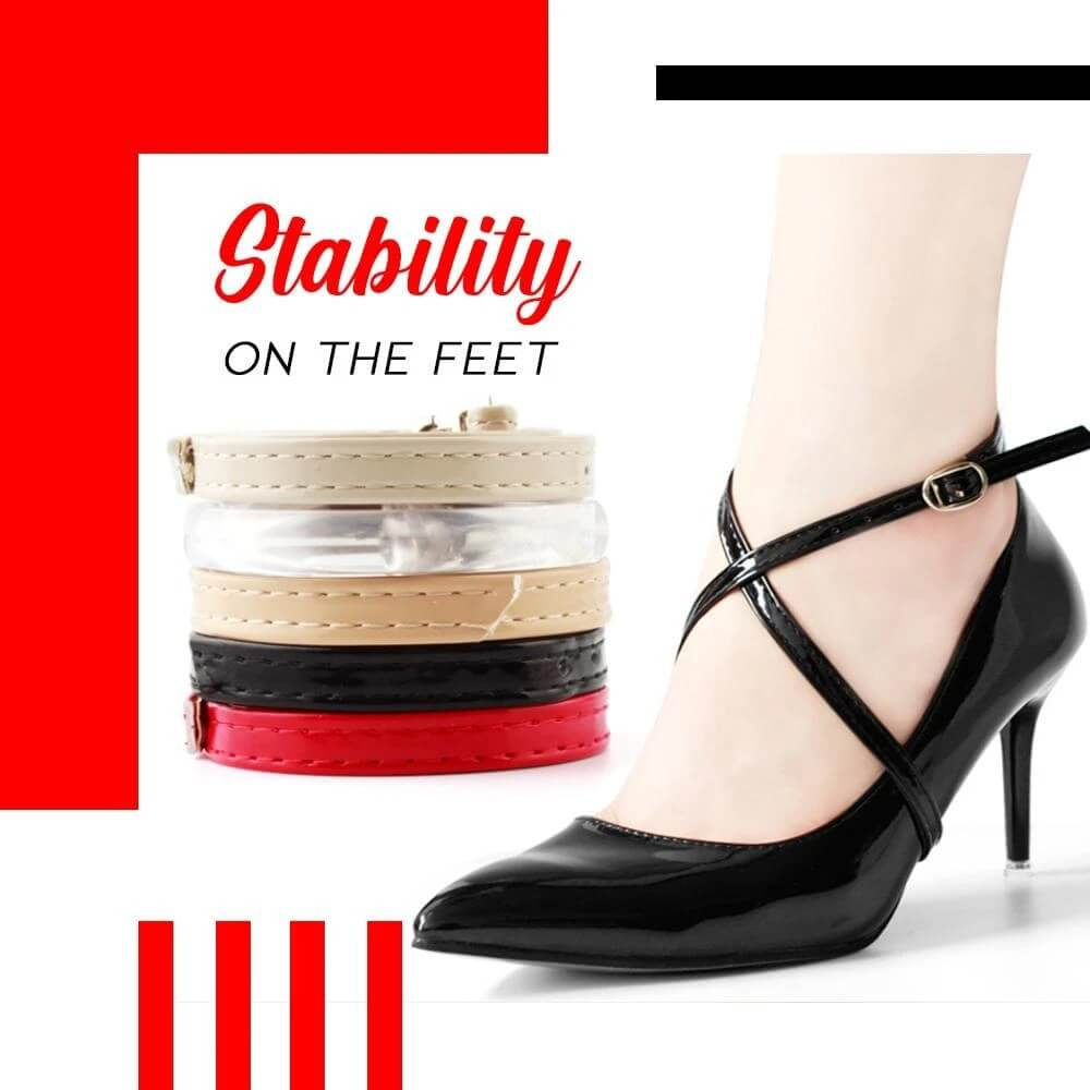 Lilyta™ Anti-Slip Cross-Section High Heel Shoe Straps Bands