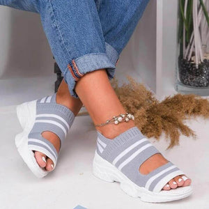 Lilyta™ Casual Woven Wedge Comfy Open Toe Sandals
