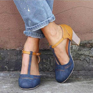 RETRO BLOCK HEEL SHOES