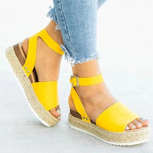 PLATFORM SANDALS WITH ANKLE SUPPORT