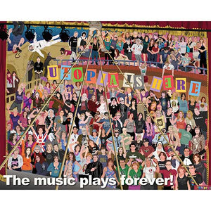 The Music Plays Forever Poster