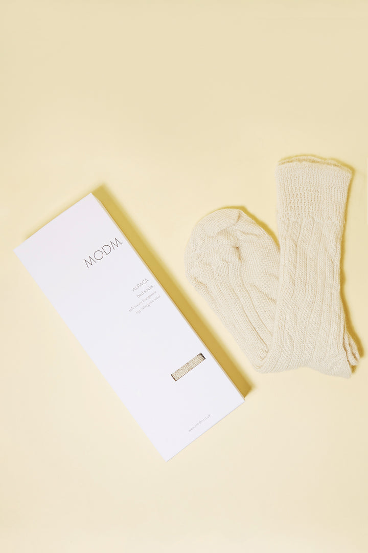Alpaca Socks - Cream