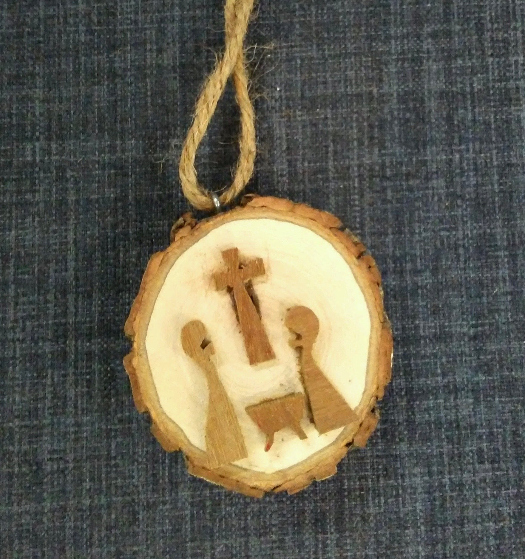 Nativity & Cross Ornament