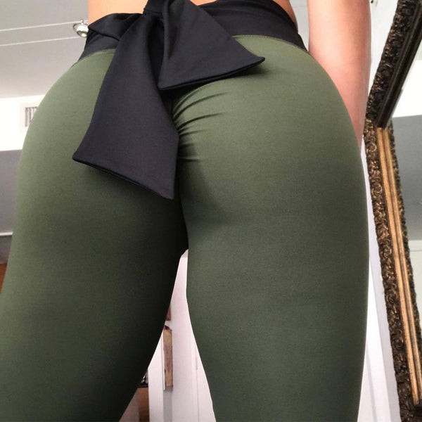 Fitness Leggings with a Bow