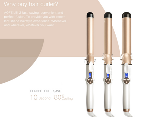 Hair Curler Lcd Curling Iron