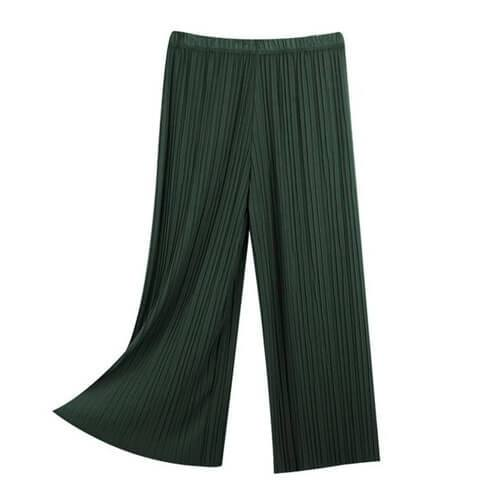 Plated Loose Trousers