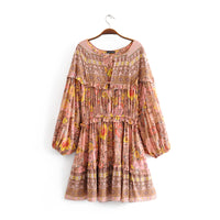 Beaded Ruffled Loose Dress