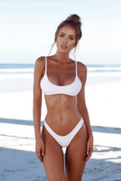 Sexy split solid color swimsuit
