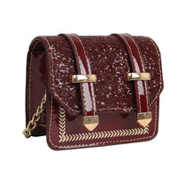 Patent leather sequin mini bag