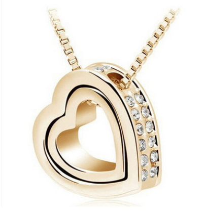 Cute Double Heart Necklace