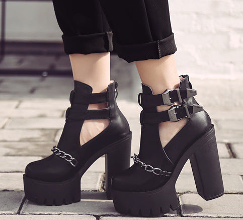 Chain Ankle Boots