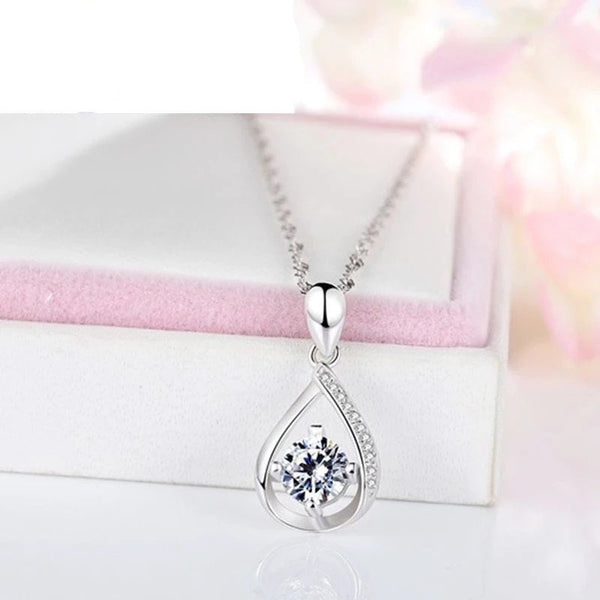 Water Drop Necklace (Silver With chain)