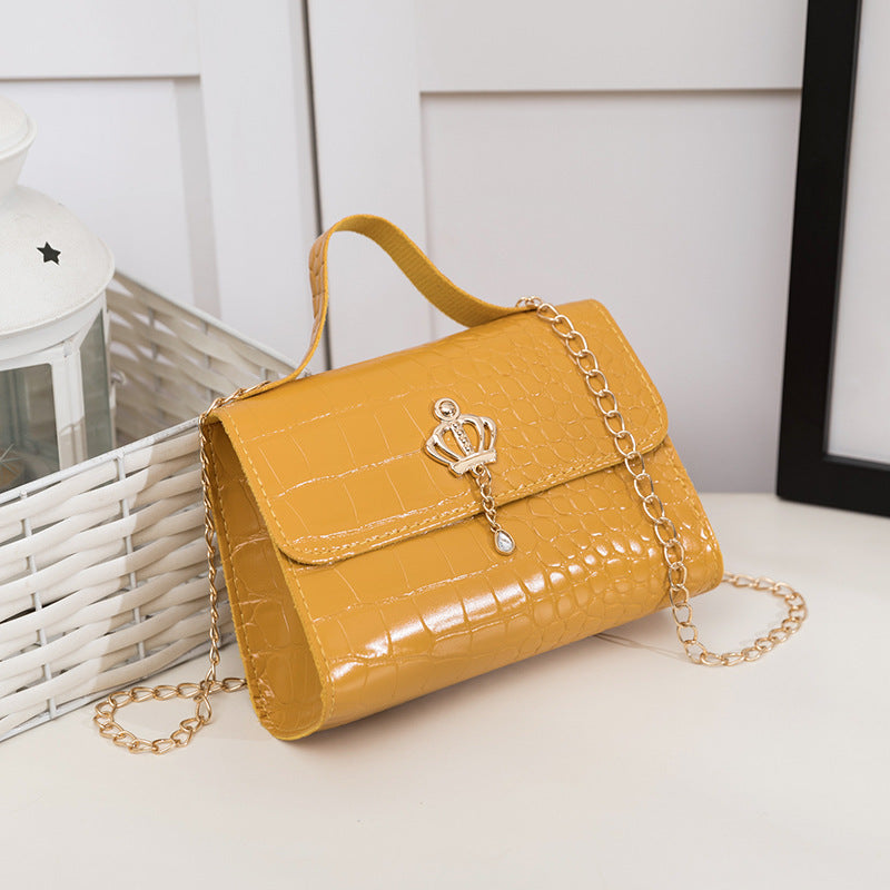Crown PU leather handbag