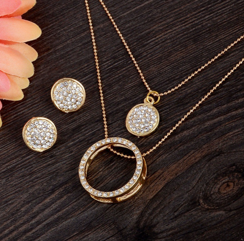 Alloy Gold  Jewellery Set