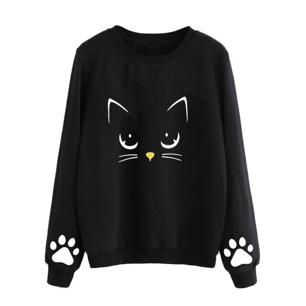 Cat Printed Sweatshirts