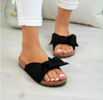 Summer Women Slip On Sandals Comfy Shoes Casual Slides Bow-Knot  Beach Slippers