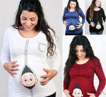 Maternity Cartoon Long Sleeve Top