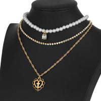 Pearl Drops Love Necklace