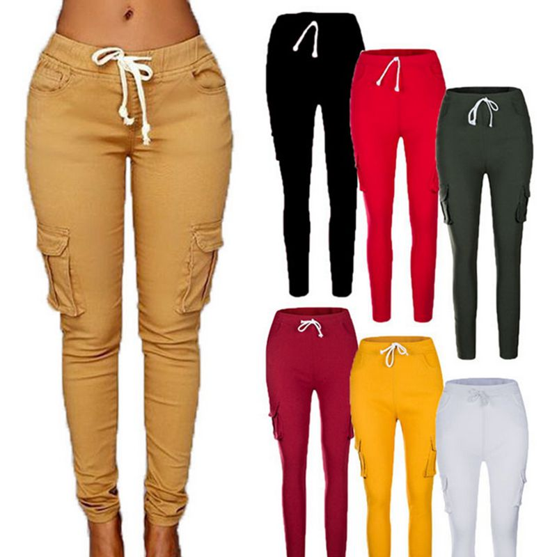 Casual Skinny Pencil Drawstring Trousers