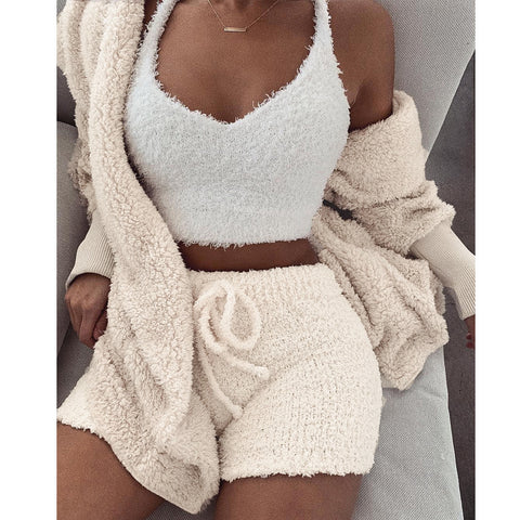 Fleece Plush Two Piece Set