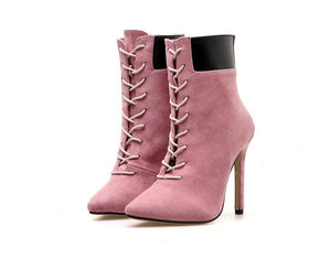 Pointed High Heeled Boots