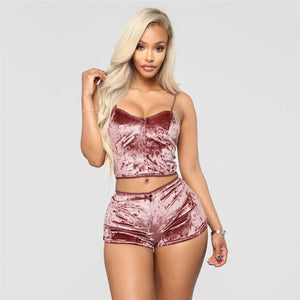Velvet 2 Piece Set Women Set