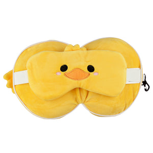 Duck Travel Pillow & Eye Mask Set