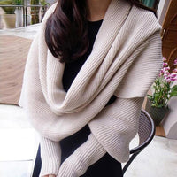 Knitted Cardigan Shawl