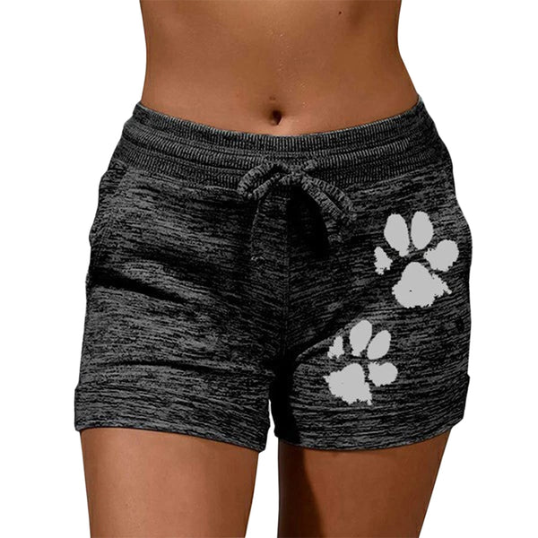 Cat paw print shorts