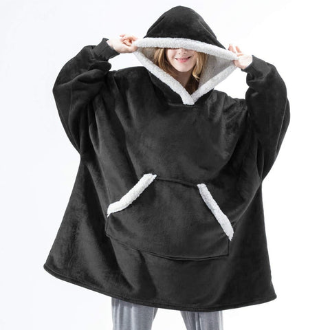 Fleece Hooded Blanket Jumper