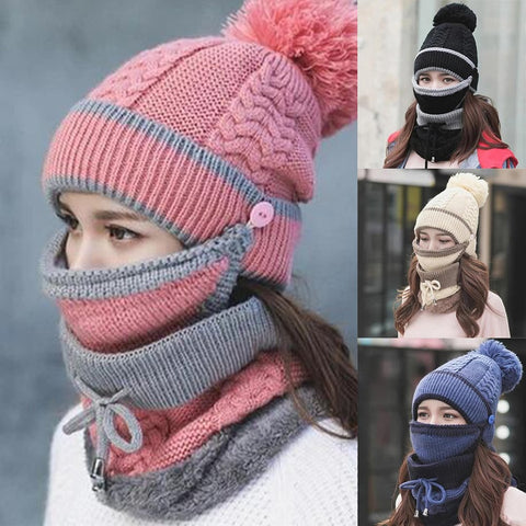 3PCS Scarf Hat Set