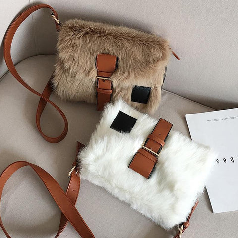 Plush Crossbody Bag