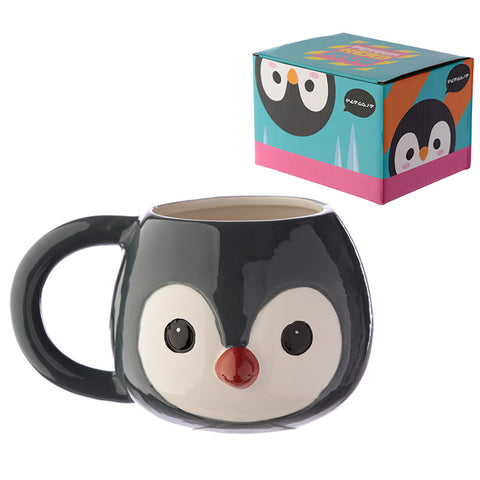 Ceramic Penguin Shaped Head Mug