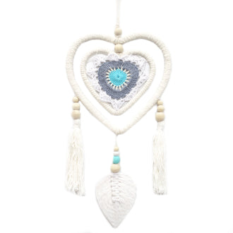 Dream Catcher - Medium Blue Heart in Heart