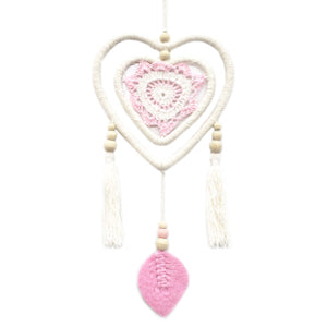 Dream Catcher - Medium Pink Heart in Heart
